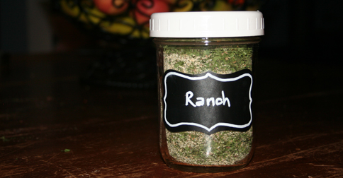 Ranch Seasoning in a jar
