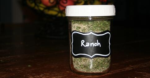 Ranch Seasoning in a jar