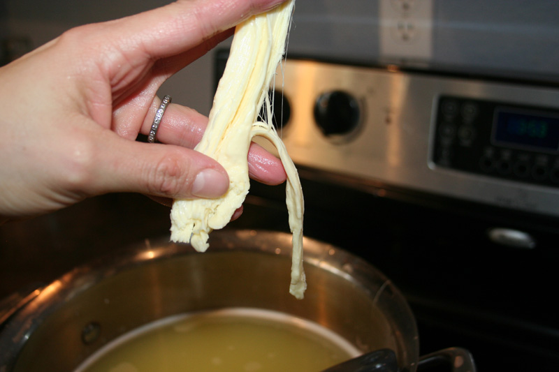 DIY Homemade Mozzarella String Cheese