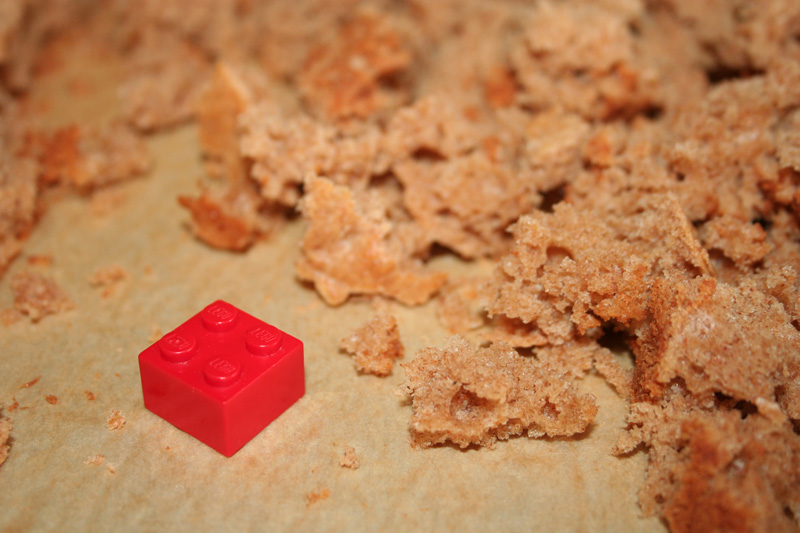 DIY Homemade Cereal Size Comparison with Lego Block