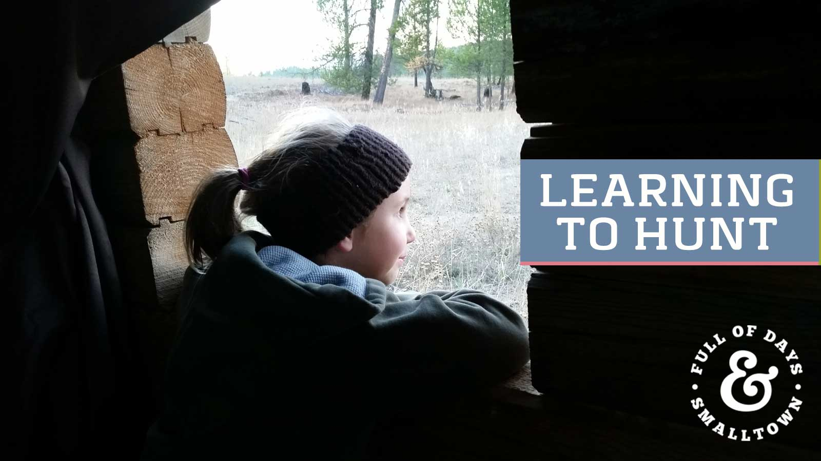 Young Girl in Deer Hunter Blind Header