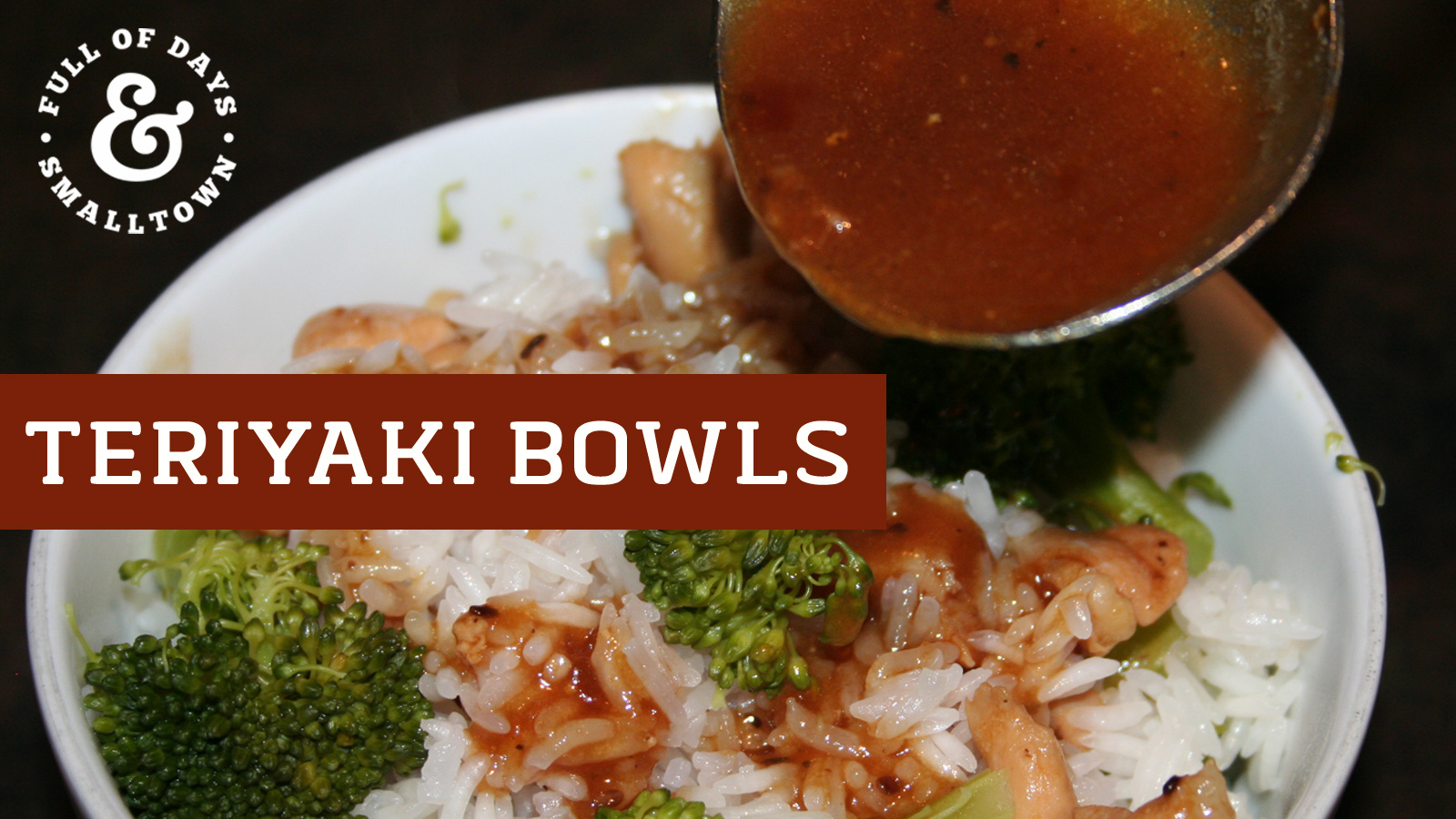 DIY Homemade Teriyaki Bowls Recipe Header