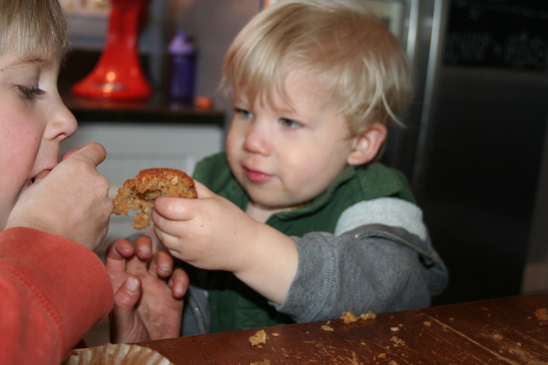 Children Sharing DIY Sourdough Muffins