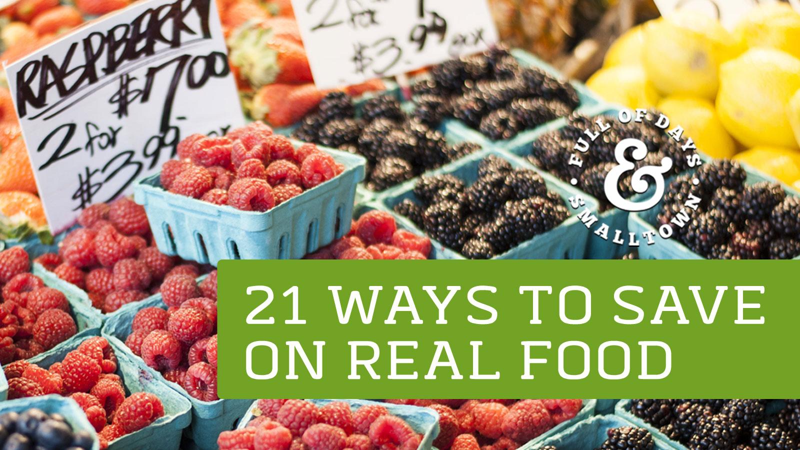 Save On Real Food