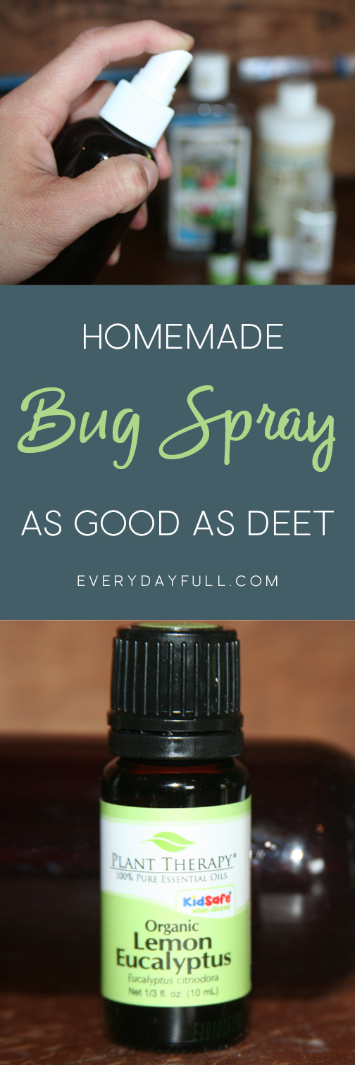 Love being outdoors but hate getting bit by mosquitoes and other bugs? Here's a non-toxic, natural, homemade alternative made from essential oils. It's safe for kids and is the perfect alternative to those harmful store-bought bug repellents. The bonus is this DIY version works as well as those containing DEET and will also keep away flies, gnats, and ticks! #mosquitoes #bugspray #essentialoils #summer #outdoors #homemade #insectrepellent #forkids #nontoxic