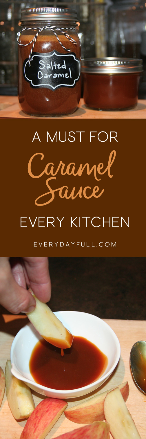 Salted Caramel Sauce Recipe Pinterest Pin