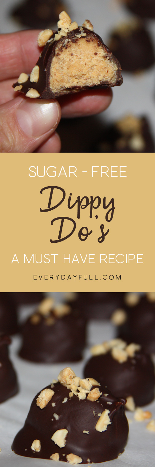 Chocolate Peanut Butter Dippy Do's Pinterest Pin