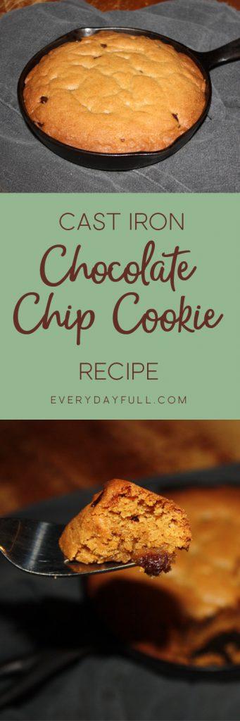 Cast Iron Skillet Chocolate Chip Cookie Dessert Recipe