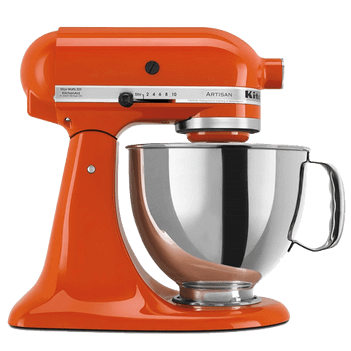 Persimmon orange kitchen aid mixer
