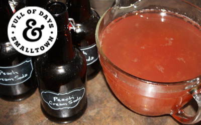 Fermented Peaches & Cream Soda Recipe