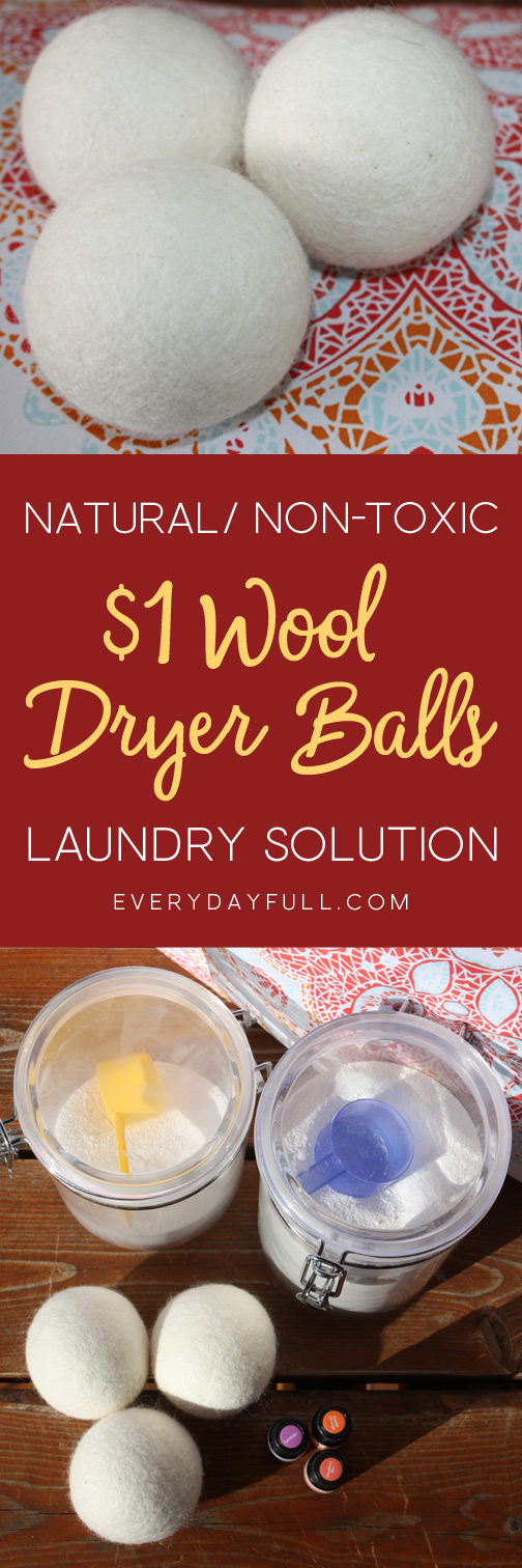 Wool Dryer Balls, Healthy, Non-toxic alternative to laundry