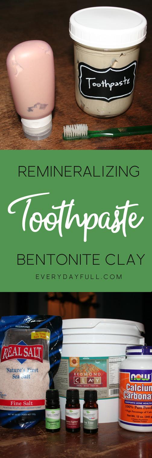 Remineralizing Bentonite Clay Toothpaste Recipe