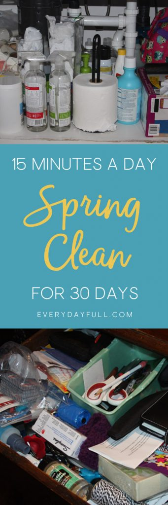 De-clutter 30 Day Clean It Up Challange