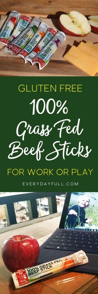 100% Grass Fed Beef Sticks Pin