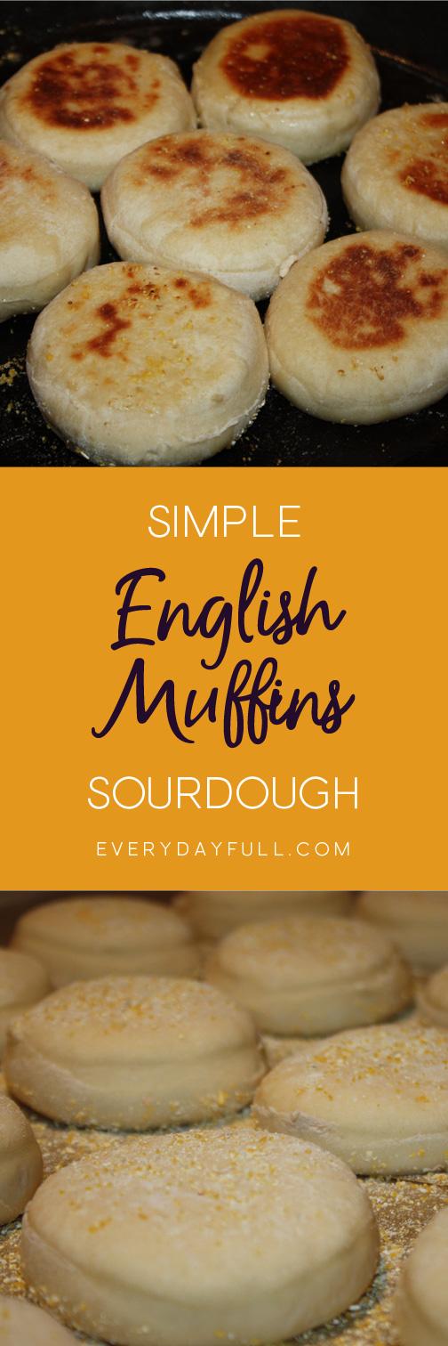 Sourdough English Muffins Pinterest Pin