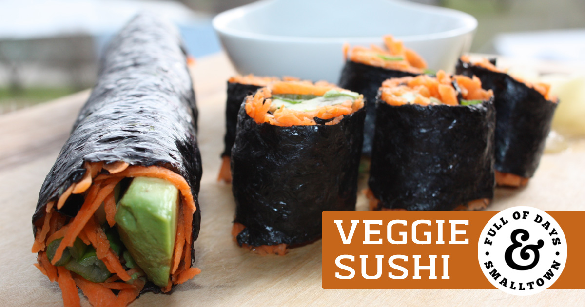 Veggie Sushi Featured Image