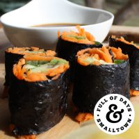Veggie Sushi with coconut aminos dipping sauce
