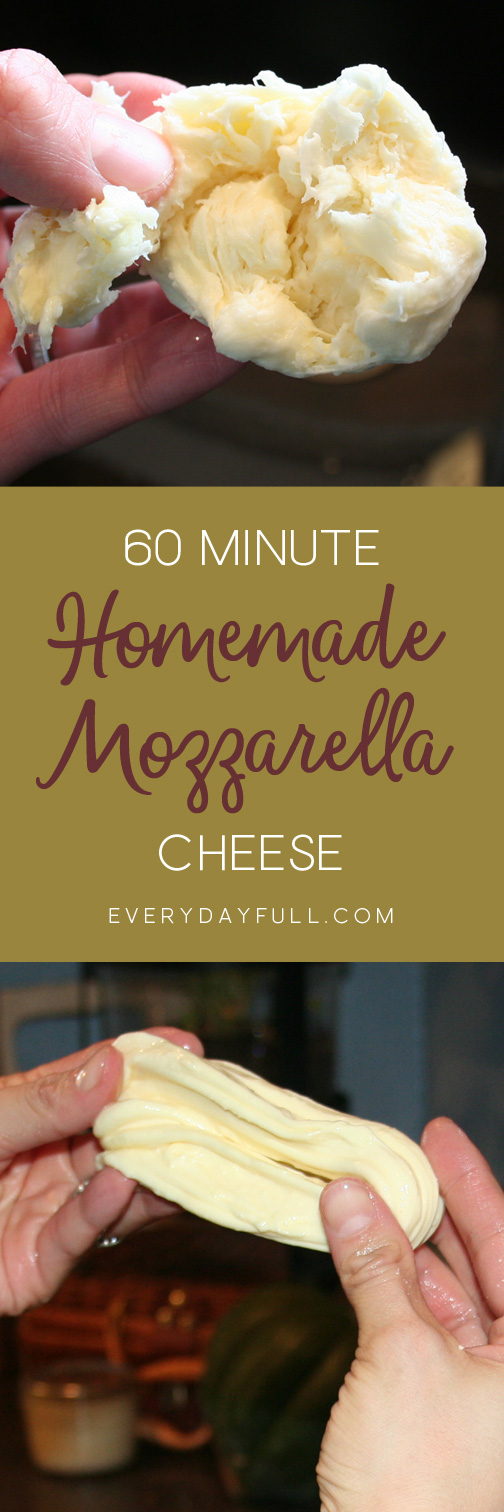 Homemade Mozzarella Pinterest Pin