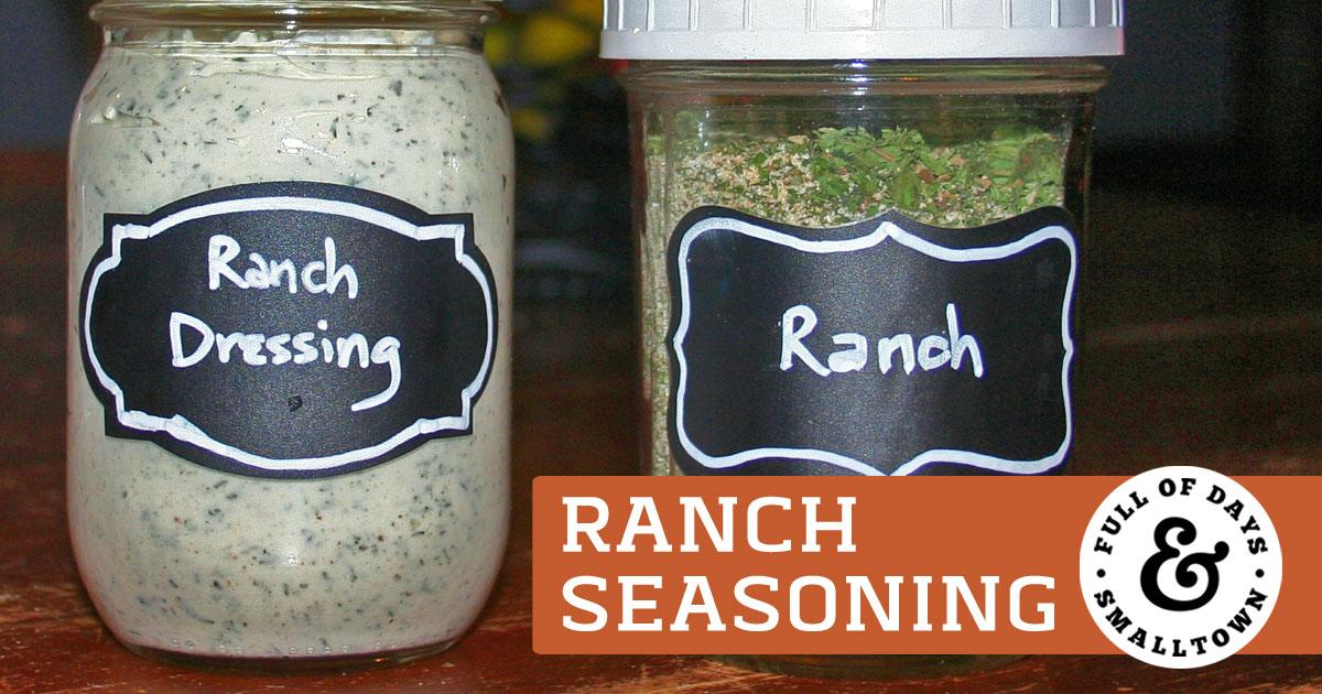 DIY Ranch Seasoning and Ranch Dressing Header Image