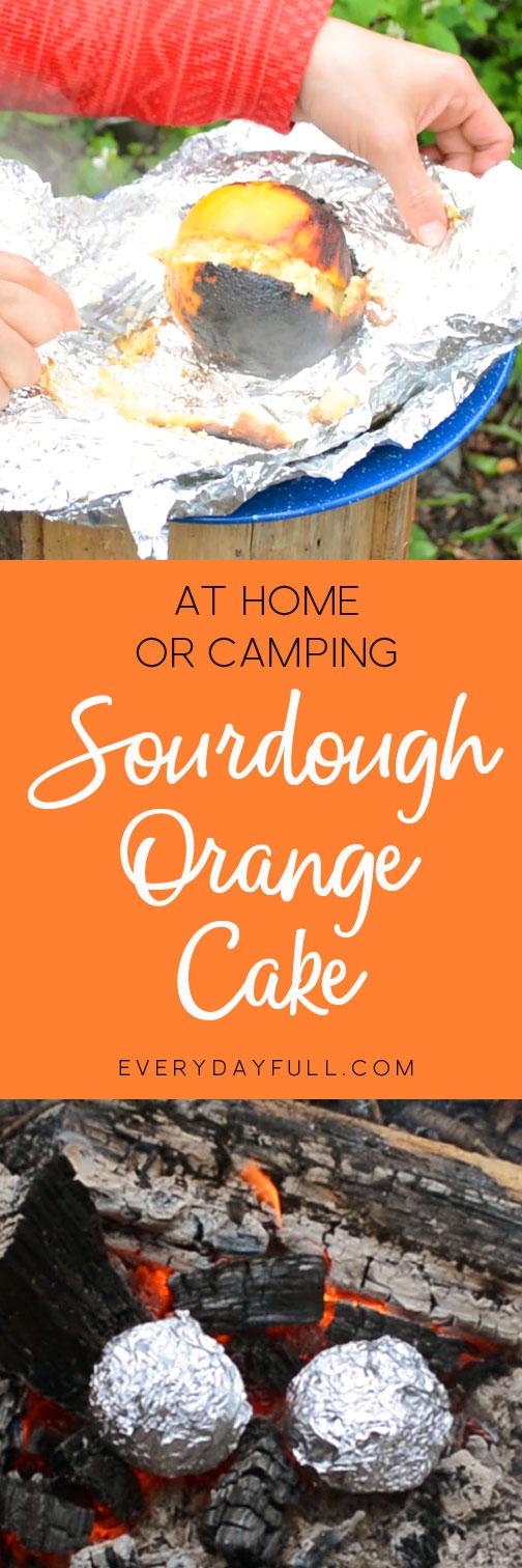 Sourdough Orange Cake Pinterest Pin