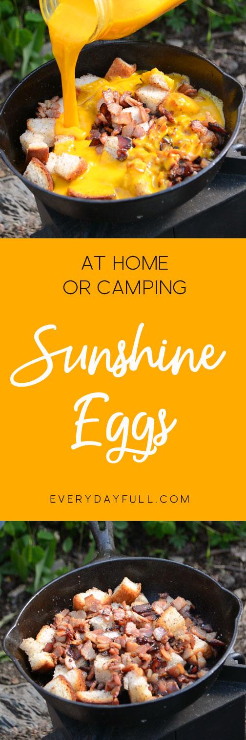 Sunshine Eggs Camping Breakfast Pinterest Pin