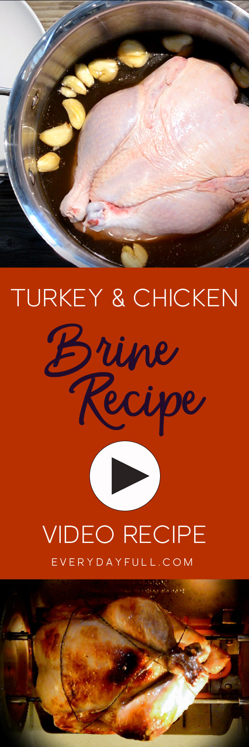 Brine Recipe and Video Pinterest Pin