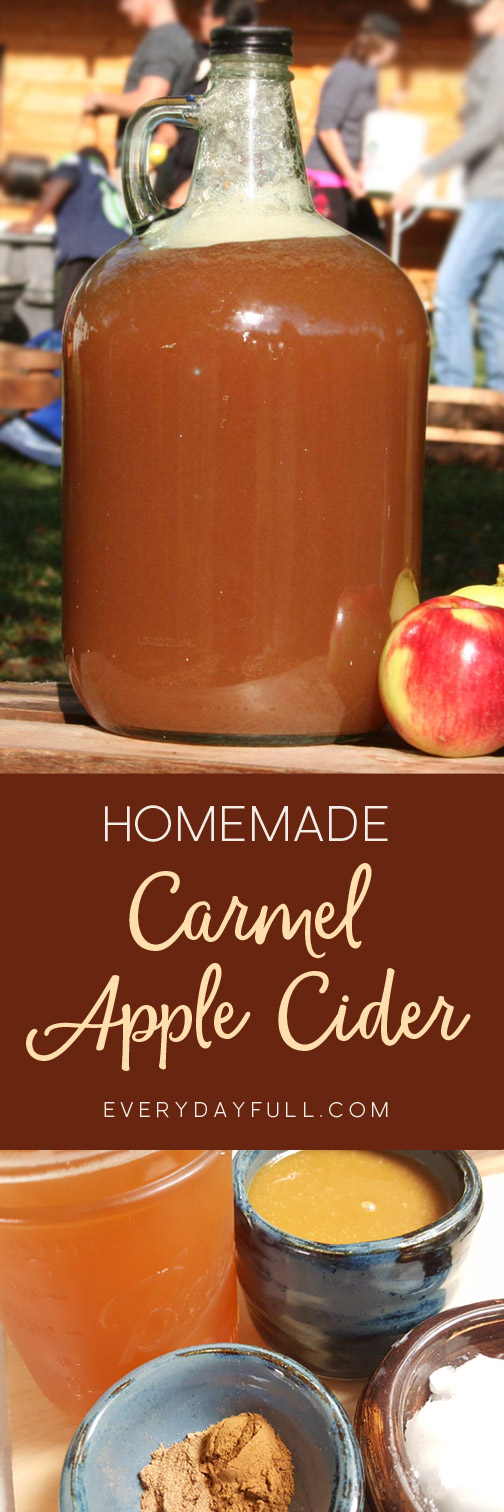 Homemade Salted Caramel Apple Cider Pinterest Pin