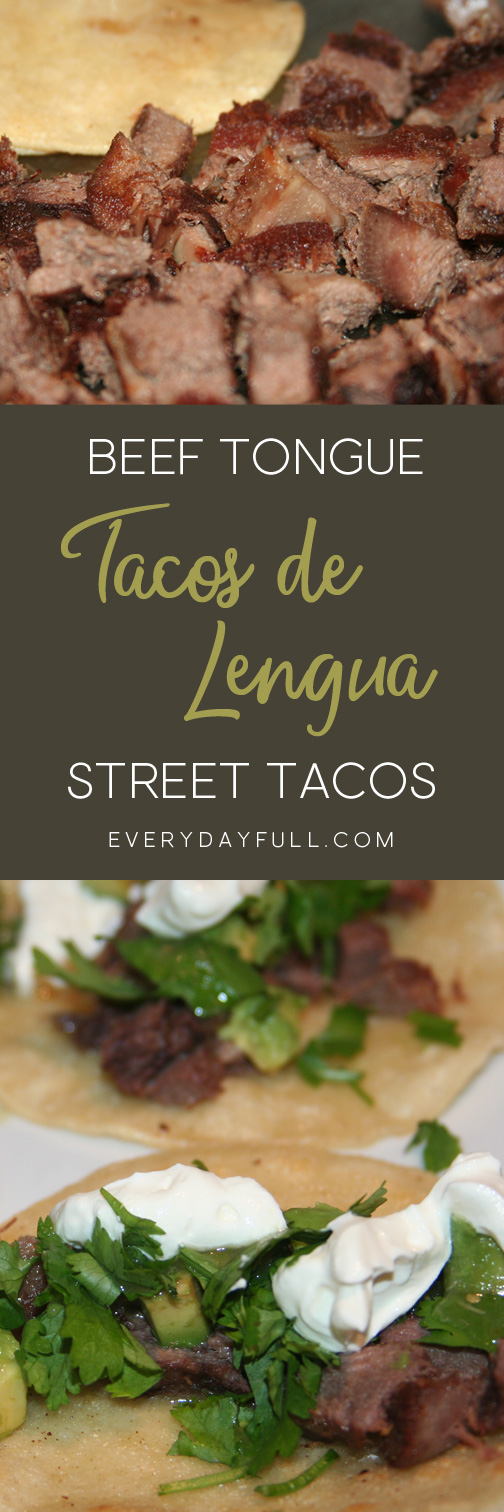Tacos De Lengua (Beef Tongue Tacos) Pinterest Pin