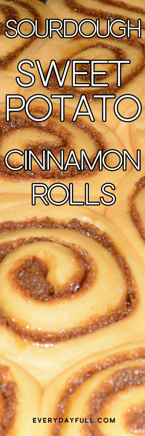 Sourdough Sweet Potato Cinnamon Rolls Pinterest Pin.