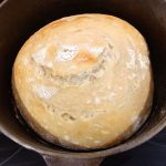 Remove the lid and continue baking to get a nice deep, golden-brown crust.
