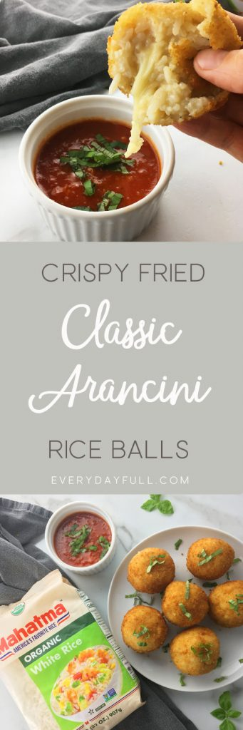 Crispy Fried Arancini Pinterest Pin