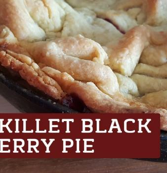 Skillet Blackberry Pie