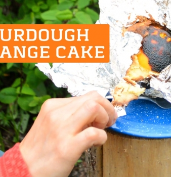 Campfire Sourdough Orange Cake