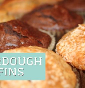 No Wait Sourdough Muffins